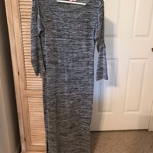 Philosophy Maxi Dress with slits-sleeves/bottom